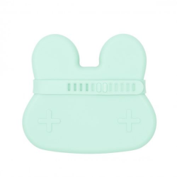 We Might Be Tiny Closed Silicone Rabbit Minty Green