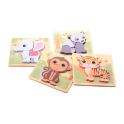 80097 Wooden puzzle The Wildies Family
