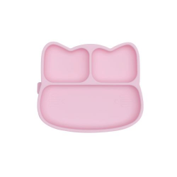 Silicone plate with a suction cup Catty We Might Be Tiny - Powder Pink