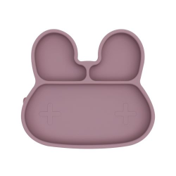 Silicone plate with a suction cup Bunny We Might Be Tiny - Dusty Rose