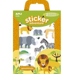 Set of stickers with 2 boards of Apli Kids - Savanna