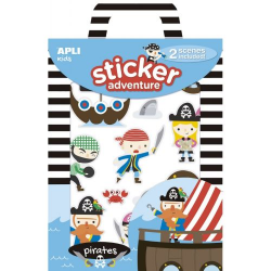 Set of stickers with 2 boards of Apli Kids - pirates