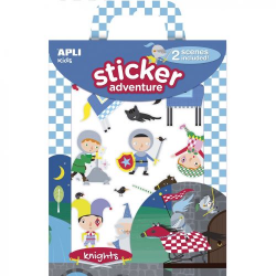 Set of stickers with 2 boards of Apli Kids - Knights