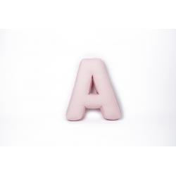Cotton letter pillow pink