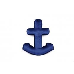 Velvet anchor pillow navy blue