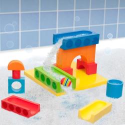 Zabawka do kąpieli BathBlocks- Wodny kulodrom 15 el.